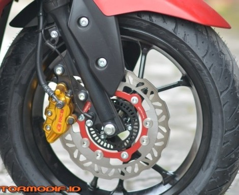 Up Grade Pengereman Yamaha Aerox Pakai Racing Boy
